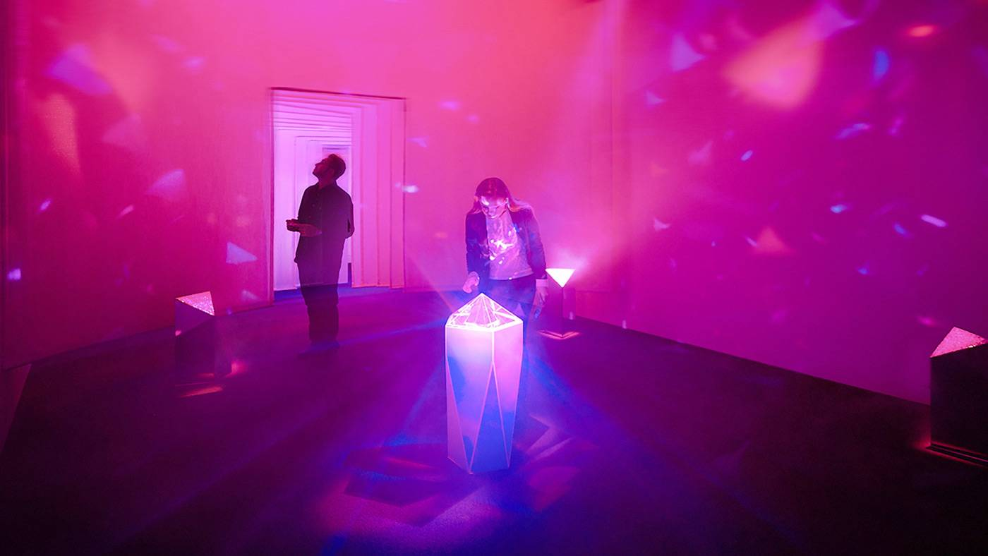 Museum of Feelings: Optimism Room, crystal with refractions of light