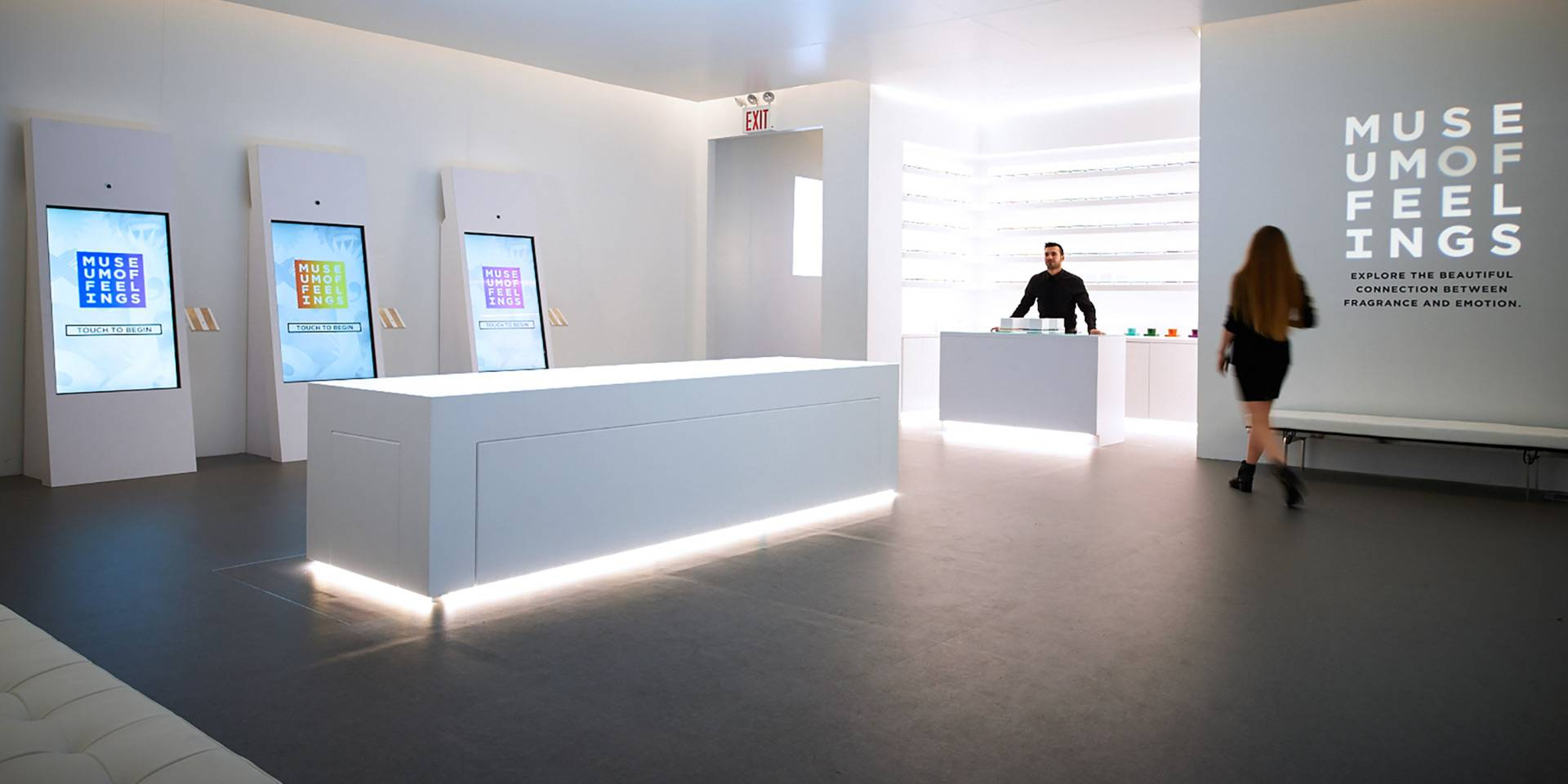 Museum of Feelings: Retail Experience, Interactive Scent Table & Mood Kiosks